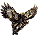 Cold-Cast Bronze Bald Eagle Wall Sculpture: Gleaming Majesty by The Bradford Exchange