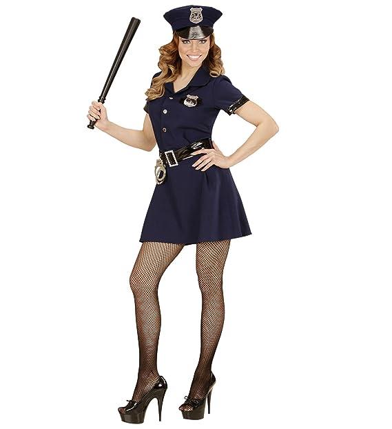 WIDMANN Costume Carnevale Donna Poliziotta  23315 Travestimento Sexy  Police  Amazon.it  Abbigliamento cf5cc17848ad