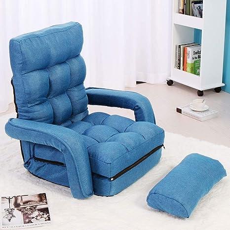 Zryh Azul Creativo Plegable Silla de sofá Perezoso sofá de ...