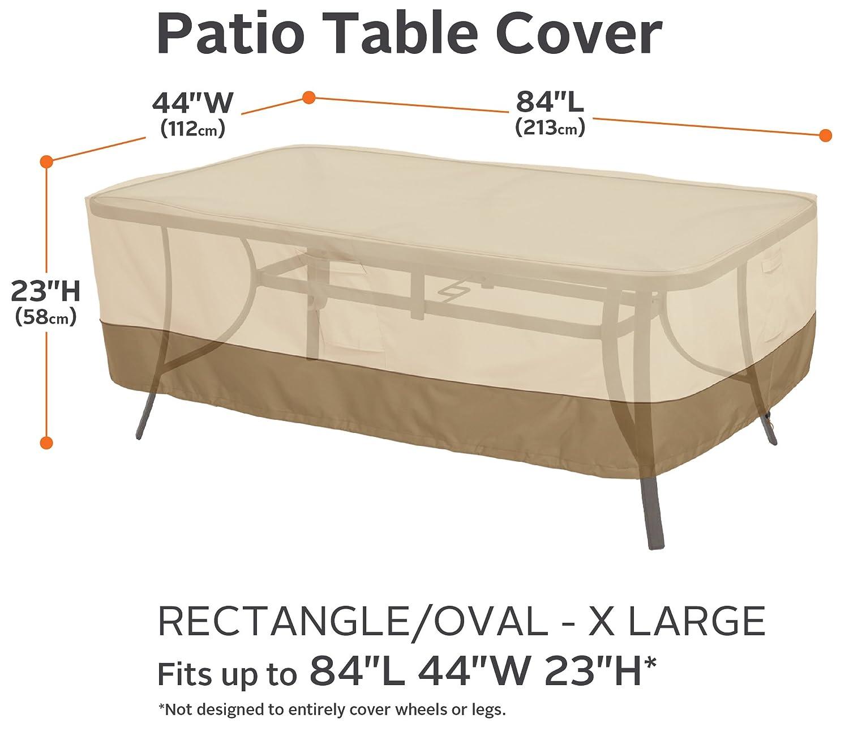 Amazon Classic Accessories Veranda Rectangular Oval Patio