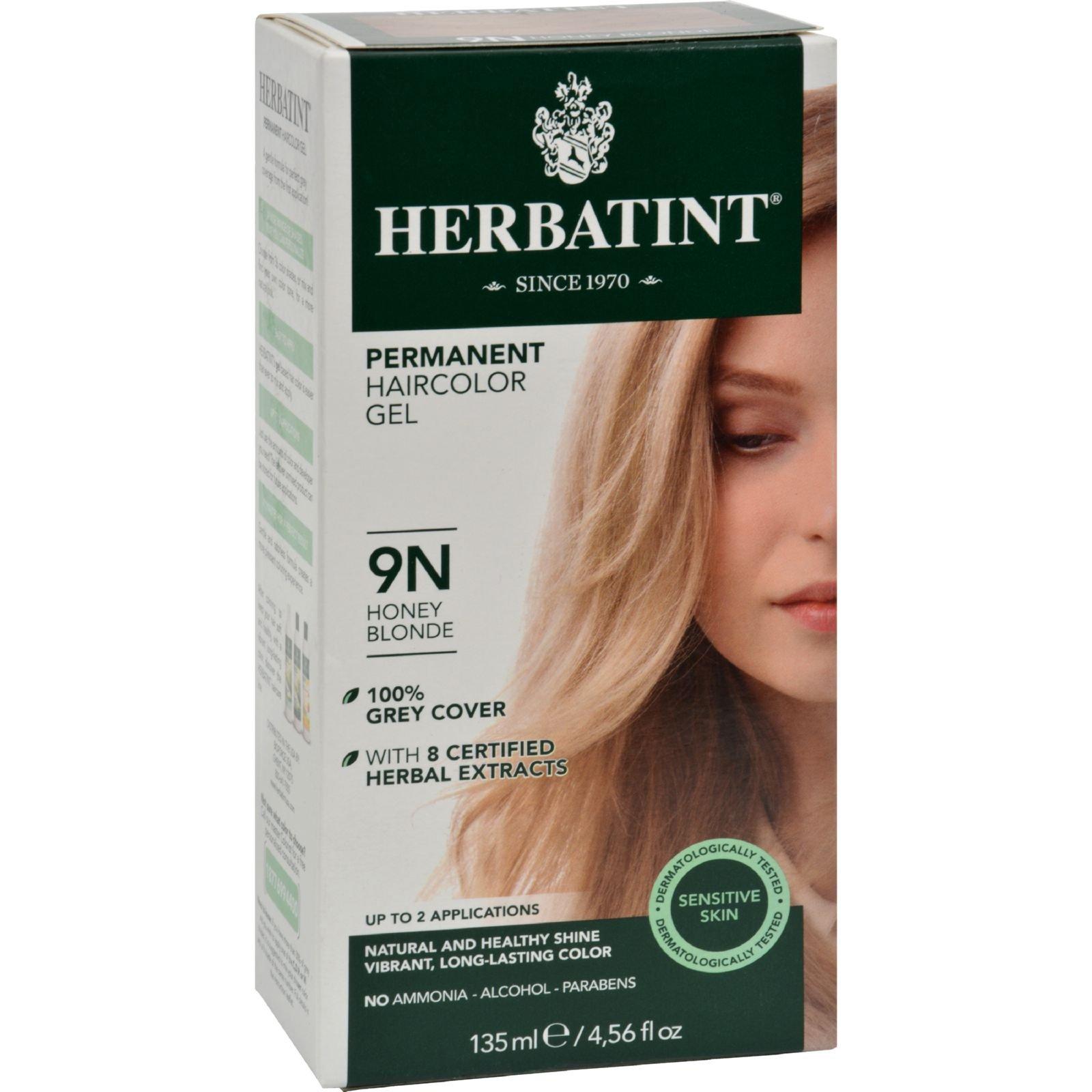 Herbatint Permanent Herbal Haircolour Gel 9N Honey Blonde - 135 ml (Pack of 4)