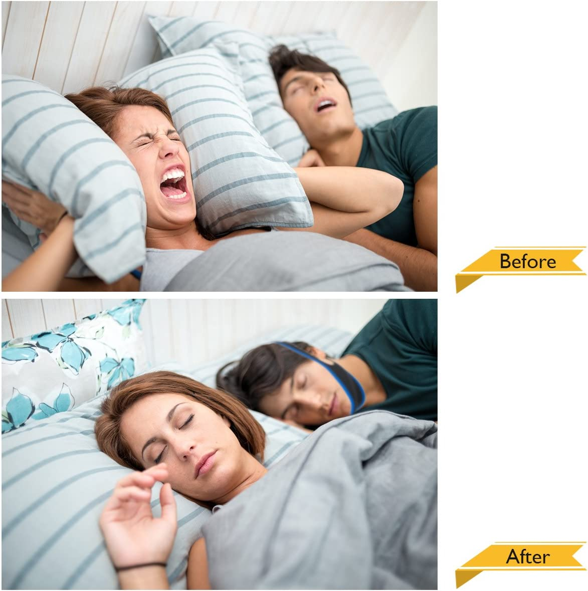 Anti Snoring Chin Strap,Snoring Solution Anti Snoring Devices Effective Stop Snoring Chin Strap for Men Women Adjustable Snore Reduction Chin Straps Snore Stopper Advanced Sleep Aids for Better Sleep