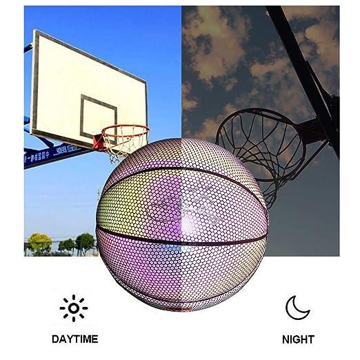 iBàste Bola de Baloncesto iluminada PU sin batería Brillo en la ...