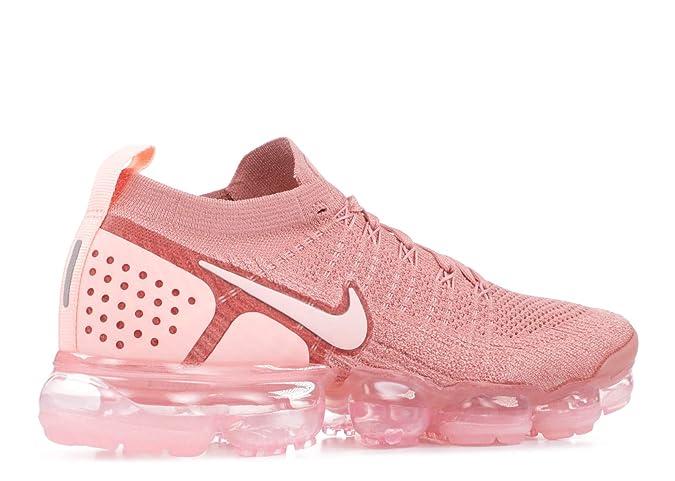 lowest price 76c3c 1d7b1 Nike Women s WAIR Vapormax Flyknit 2 Low-Top Sneakers, Multicolour (Rust  Storm Pink Crimson Tint 001), 5.5 UK  Amazon.co.uk  Shoes   Bags