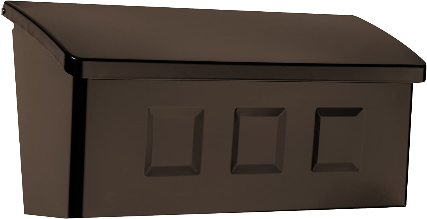 Architectural Mailboxes 2689RZ Wayland Wall Mount Mailbox, Small, Rubbed Bronze