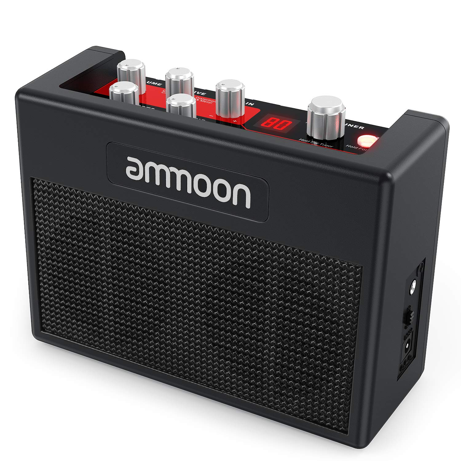 ammoon Guitar Amp POCKAMP Portable Guitar Amplifier Amp Built-in Multi-effects 80 Drum Rhythms Support Tuner Tap Tempo Functions with Aux Input Headphone Output, Power adapter included I3697