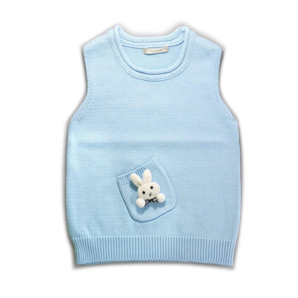 IUHA Cute Rabbit Decoration Sweater Vests Girls Cotton by IUHA (Image #1)