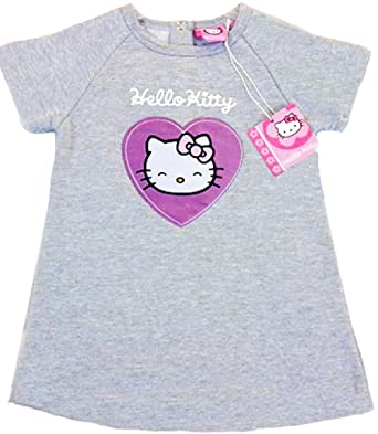 7f355255e Girls Hello Kitty Jersey Style Short Sleeved Dress Or Long Jumper (12  Months): Amazon.co.uk: Clothing