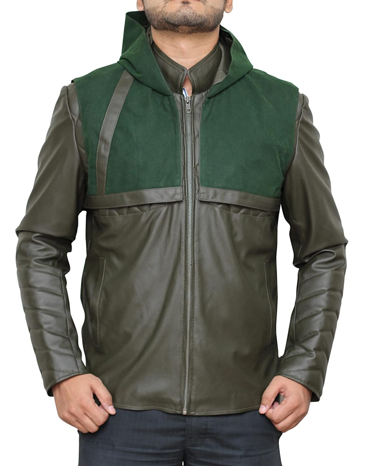Leather jacket repair vancouver - Amazon Com Arrow Hoodie Leather Costume Jackets Available In 4 Designs Clothing