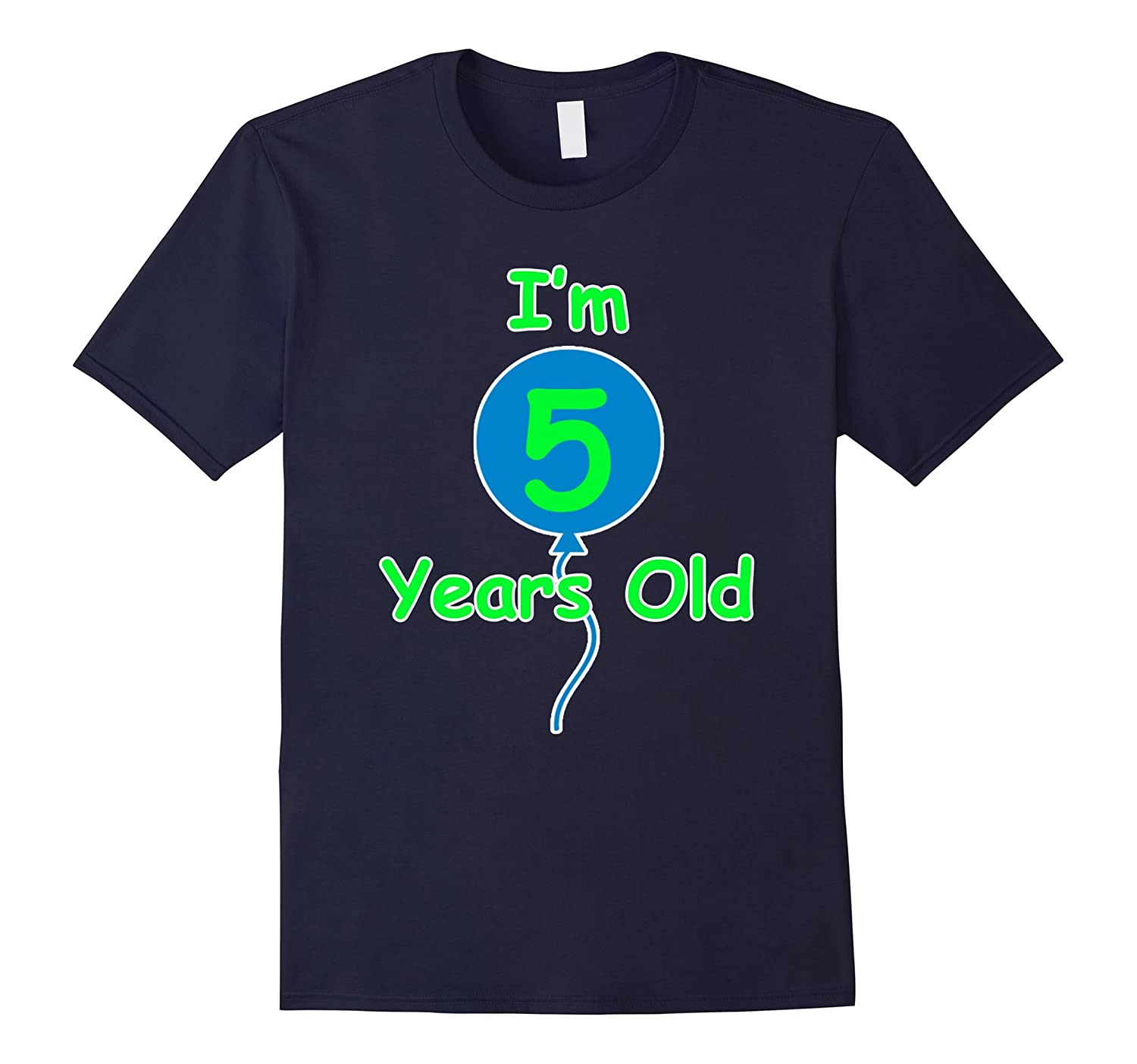 5th Birthday Gift Im 5 Years Old T-Shirt Party Boy Girl-PL