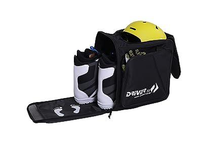 Driver13 - Bolsa para botas de esquí con compartimento para casco y sistema de mochila, color negro 2018 AR-10088