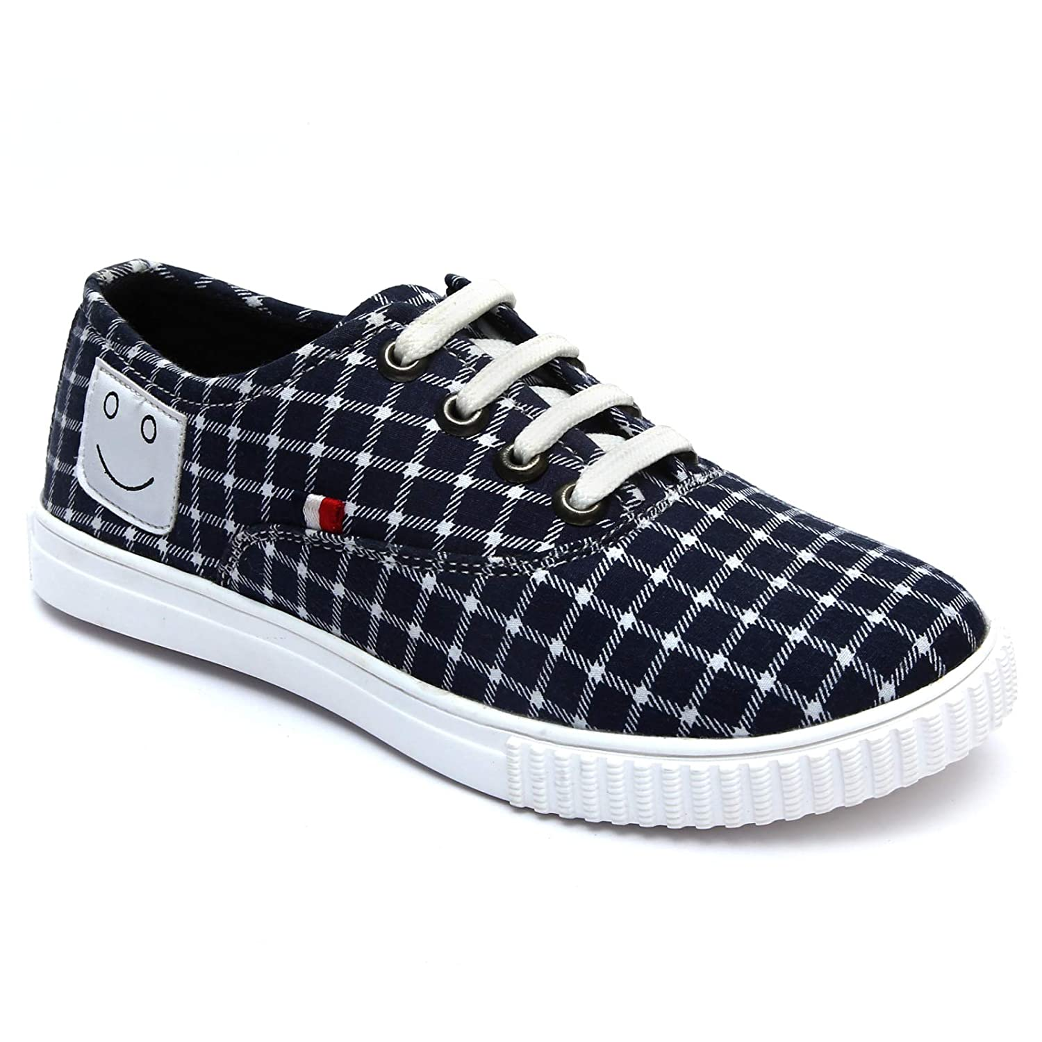 Buy Doodlers Navy Blue Canvas Shoes for