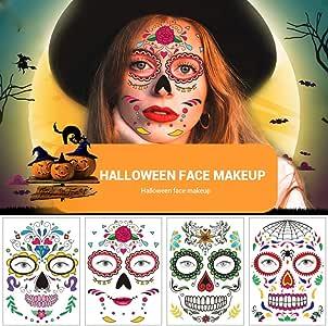 Yissma Face Tattoo, Tattoo Sticker Art Halloween Carnaval Tear Bat ...