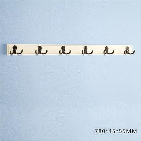 DSC Estilo europeo de madera sólida gabinete bastidores ropa ganchos de pared gancho cinco filas de toalla ...