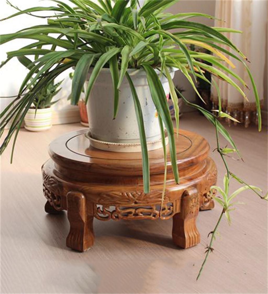 KKCF 木製植物のポットのディスプレイスタンド花のポットの台座スタンド花のポットに適した花瓶のベース花瓶の魚のタンク装飾品のすべての種類 (サイズ さいず : 20*35cm) B07KCTCBGL  20*35cm