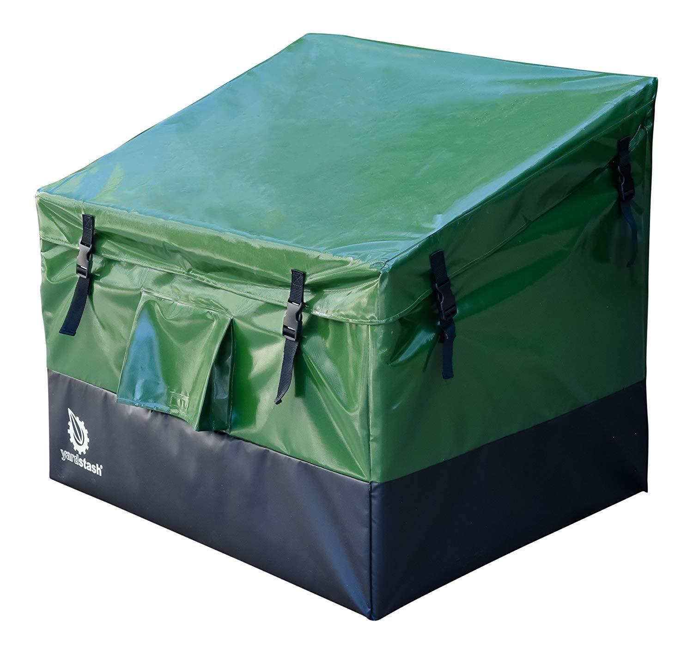 YardStash YSSB02 Outdoor Storage Deck Box Medium, Green by YardStash
