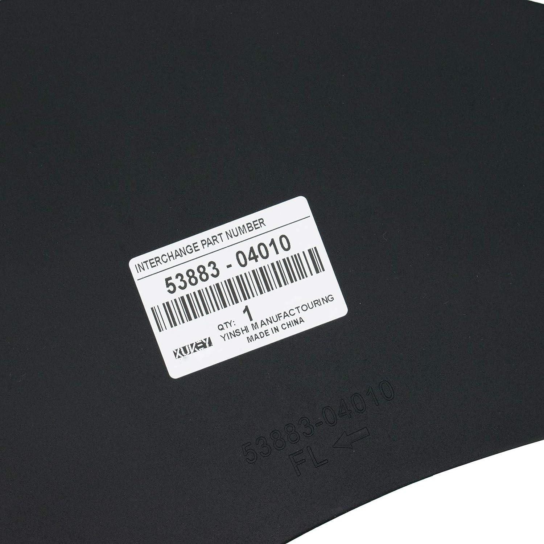 XUKEY Splash Gurards for Toyota Tacoma N220//N240//N250//N260//N270//N300 2005-2020 Mud Flaps Guards Mudflaps Mudguards OE# 5375-05060 537505060 53883-04010 5388304010 W//Clips 9046710186