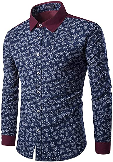 Camisa de Manga Larga Tendencia de la Moda Casual Camisa de ...