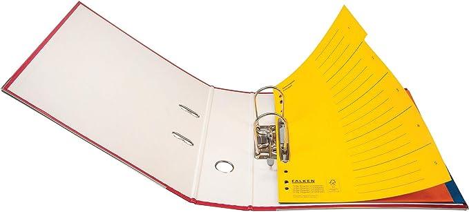 24/x 29,7/cm A4 Falken Carton colorspan Registre carton Registre pour DIN A4 Jaune 6 pi/èces 6-teilig jaune