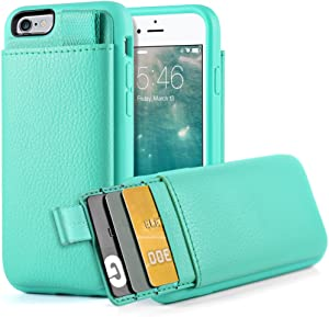 iPhone 6S Wallet Case, iPhone 6 Leather Case, LAMEEKU Shockproof Wallet Cover Leather Wallet Case with Credit Card Slot Holder, Protective Cover Compatible for Apple iPhone 6 / 6S 4.7'' - Mint Green