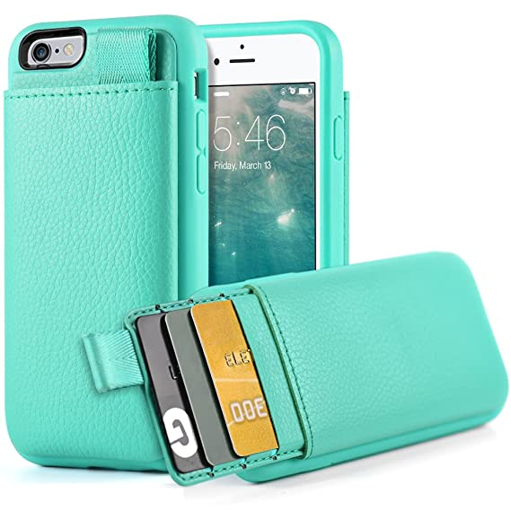 the best attitude 5524a c08ba LAMEEKU iPhone 6S Wallet Case, iPhone 6 Leather Case, Shockproof Wallet  Cover Leather Wallet Case with Credit Card Slot Holder, Protective Cover ...