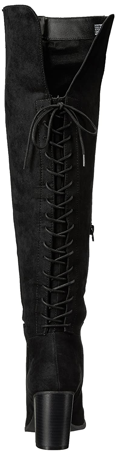 Madden Girl Women's Districtt Slouch Boot B07281VSY4 10 B(M) US|Black Fabric