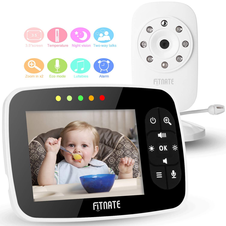 FITNATE Baby Monitor Camera Corner Shelf - for Crib, Wall Mount by Sticker, fits Infant Optics, Babysense, Motorola, Summer Infant, Hello Baby and Other Universal Monitors (Corner Shelf)