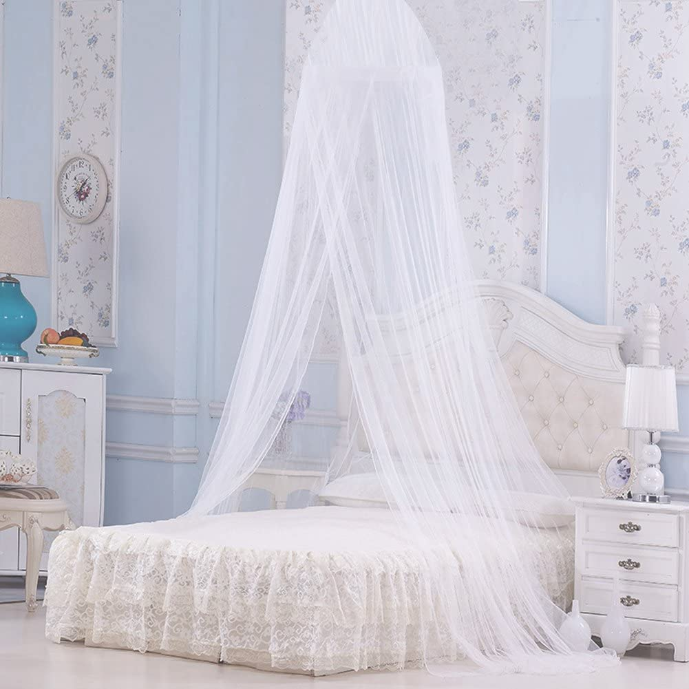 Pink Mosquito Net Cot Mosquito Net Bed Canopy for Baby 2 Layer High-Density Mesh Polyester Extra Large Princess Dreamy Canopy for Boys and Girls Portable for Traveling