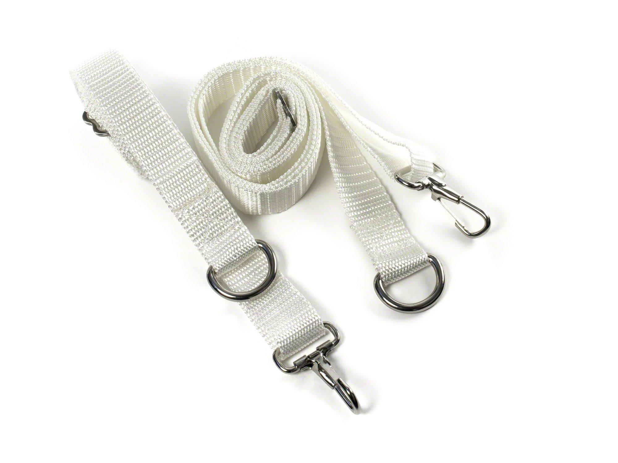 Whitecap Industries S-0245WC Adjustable Dacron Bimini Strap, 1 x 78-Inch, White
