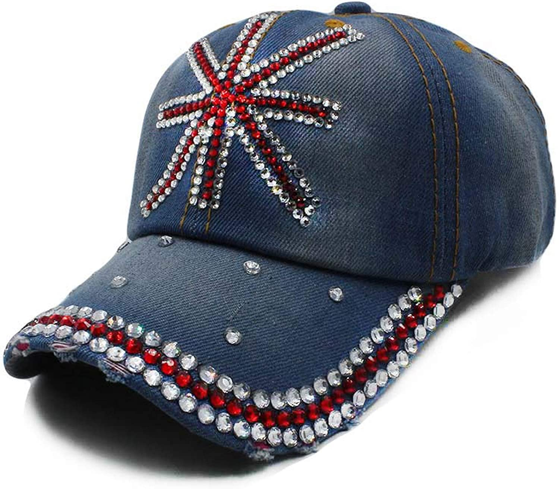 Floral Adjustable Women Denim Baseball Cap Summer Hat Female Adult Girls Cap Snapback Bone Hat