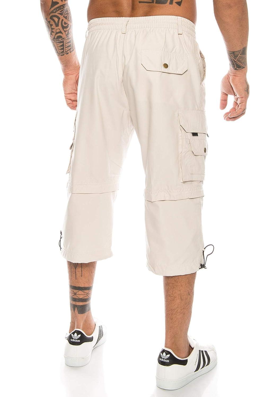abnehmbare Beine Zipp-Off von 3//4 in Kurze Hose Kendindza Herren Bermuda