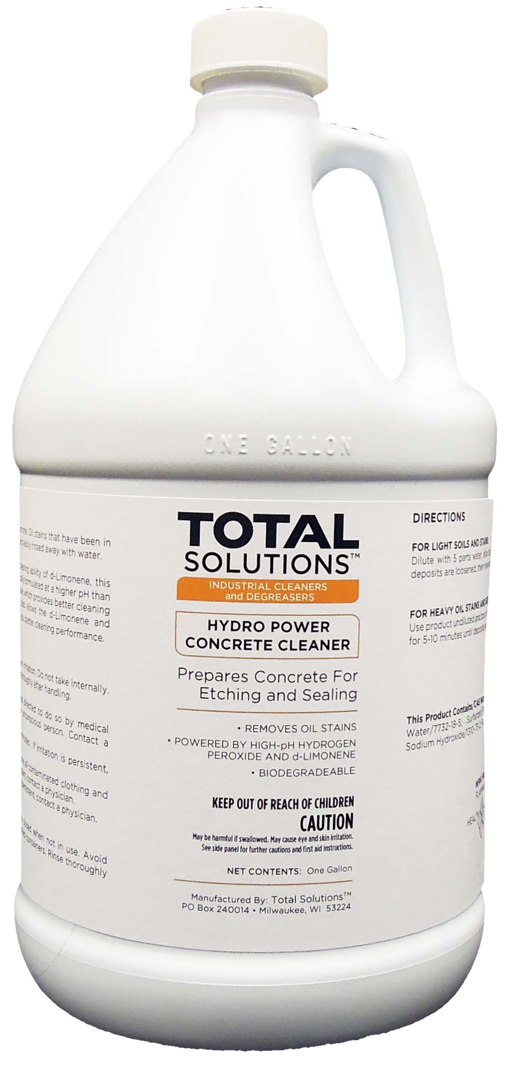 Hydro Power Concrete Cleaner, Biodegradable Concrete Stain Remover- 4X1 Gallon Case by EcoClean Solutions