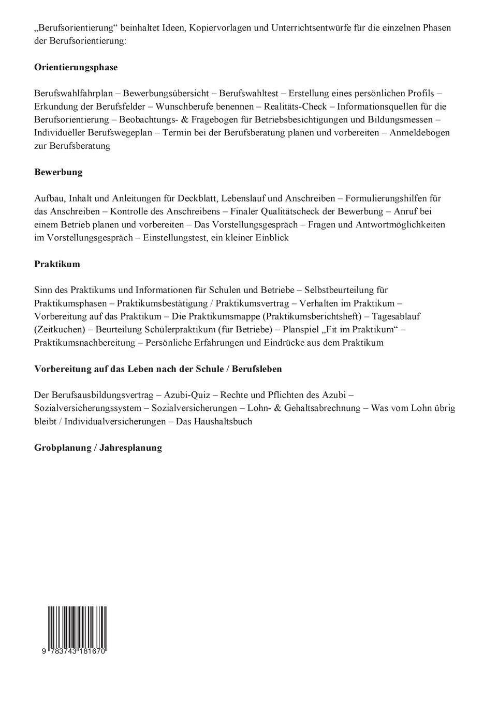 Berufsorientierung: Handreichung für die Berufsorientierung: Amazon ...