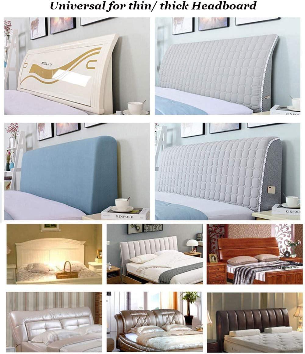 140 cm Schlafzimmerdekoration waschbar einfarbig Kaffeebraun f/ür Holz-Kopfteile staubdicht dehnbar 120 cover Bett-Kopfteil-Schonbezug