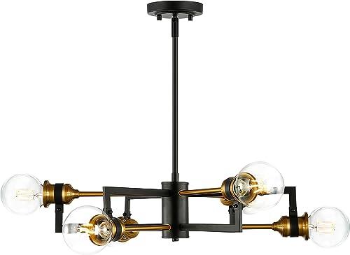 Light Society LS-C364-BK-GLD Caprice 6-Light Chandelier