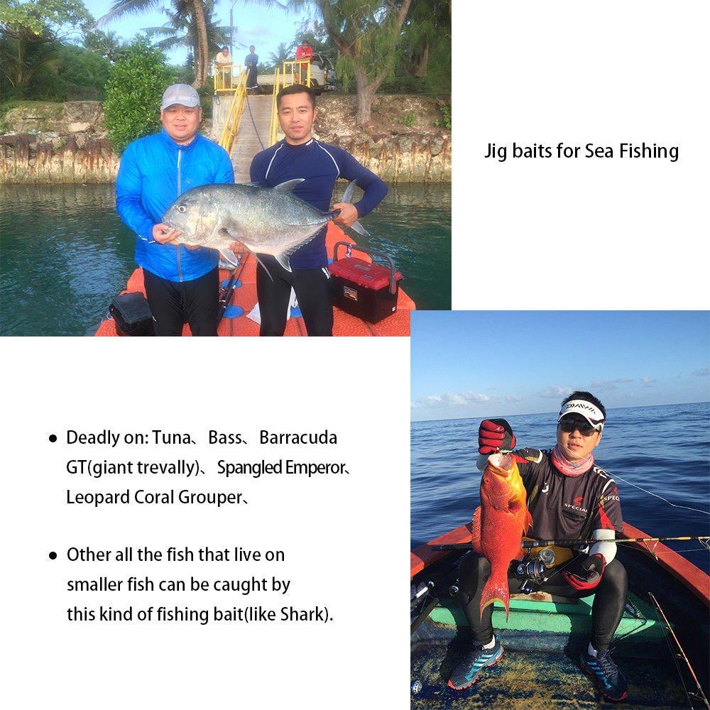FidgetFidget Fishing Lure,for Sea Fishing Bait Bass Tuna GT Barracuda Set Offer 30g Metal Pb