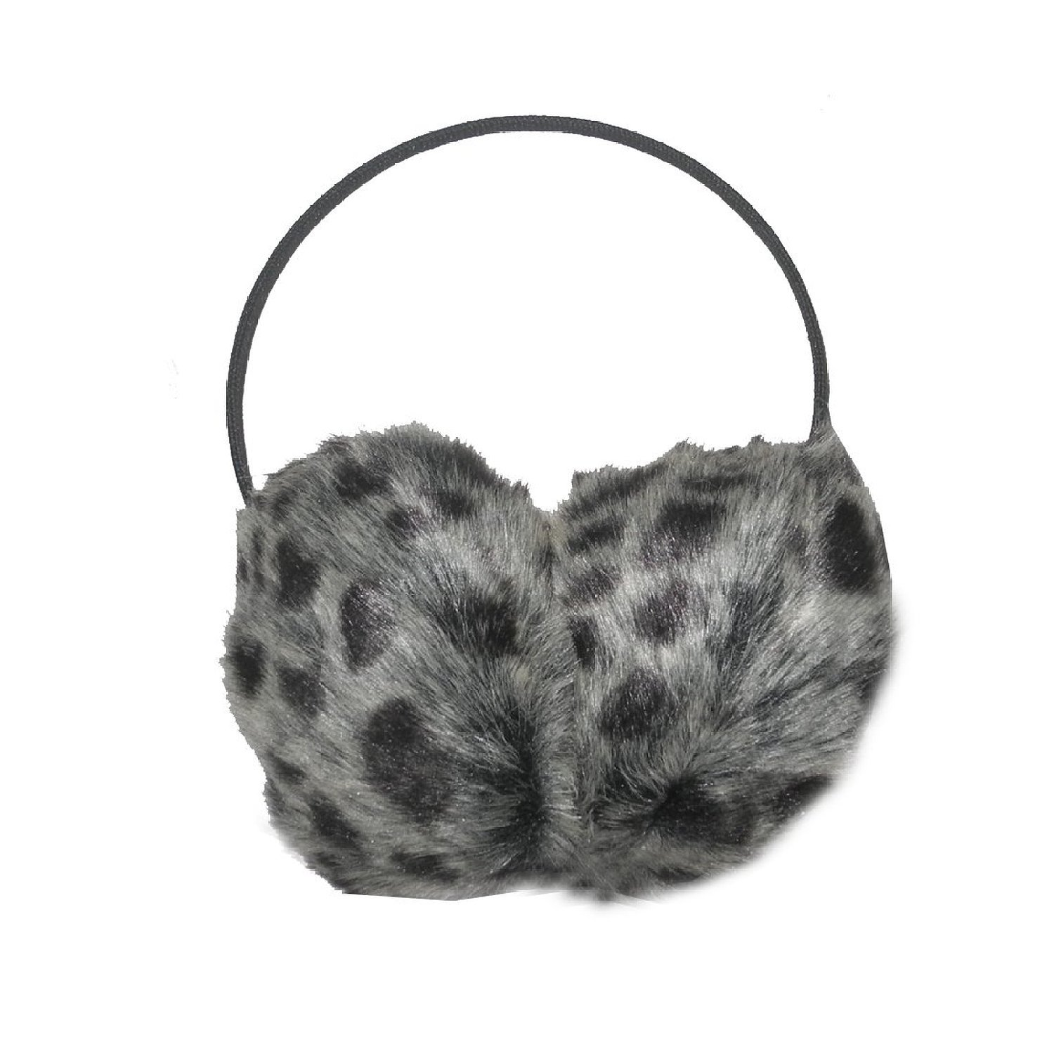 Behind The Head: Damen Winter Ski & Snow Faux Fur Animal Print Earmuffs