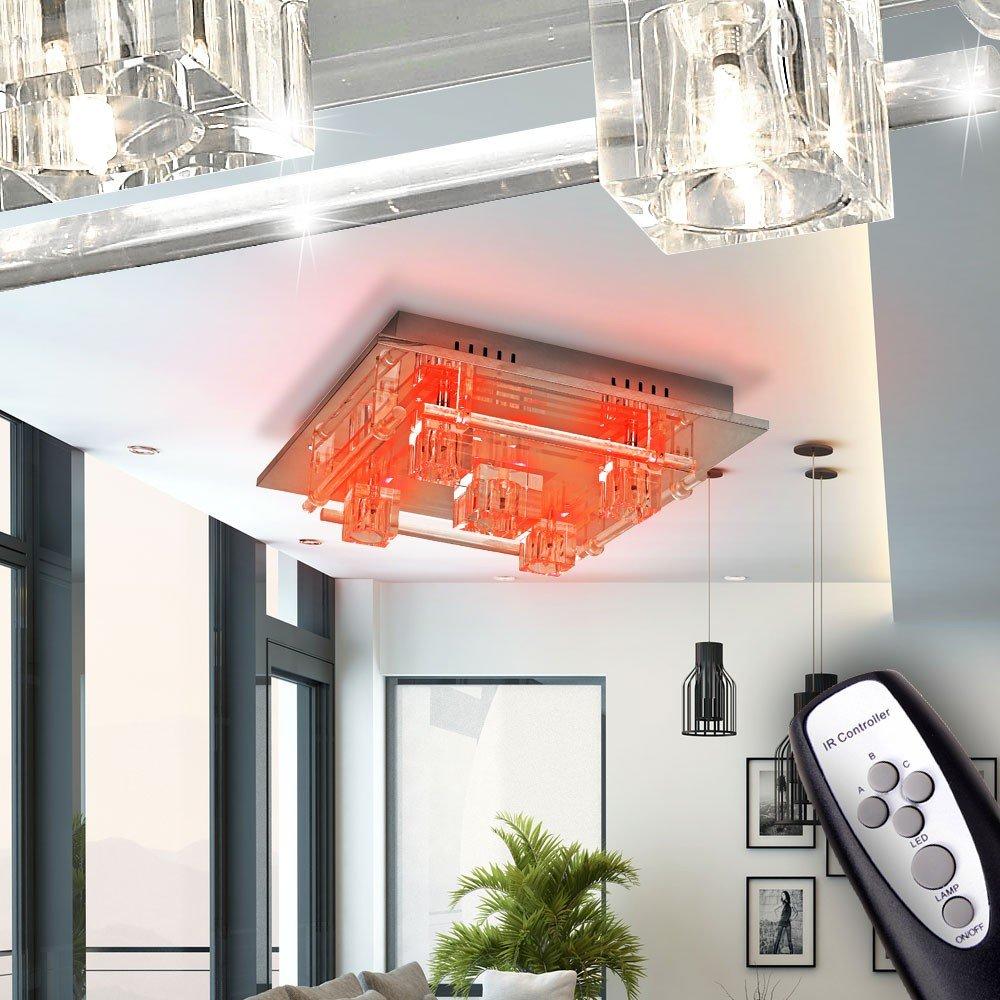 LED RGB Deckenlampe Deckenleuchte Fernbedienung Effektleuchte Wohnzimmer Esto Zirkonia 974086 5 Amazonde Beleuchtung
