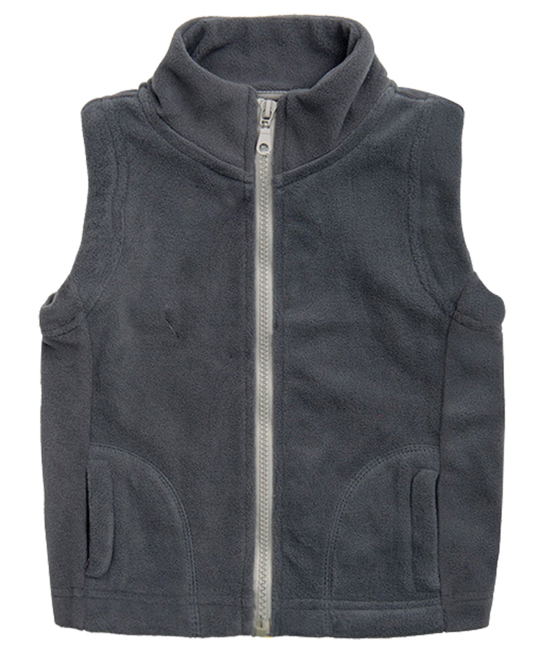 Aivtalk Boys' Warmth Fleece Sleeveless Winter Outer Vest Grey Size S