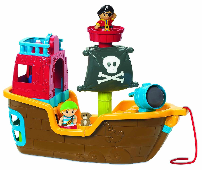amazon com mega bloks pull along musical pirate ship toys u0026 games