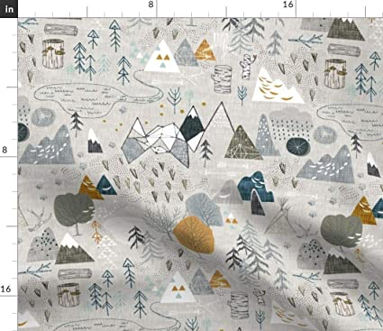 Miraculous Spoonflower Map Fabric Home Decor Rustic Adventure Mountain Woodland Trees Wilderness Modern Nursery Decor By Nouveau Bohemian Printed On Eco Canvas Interior Design Ideas Inamawefileorg