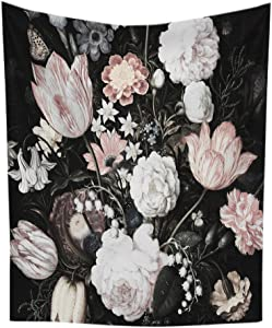 Blossoms Wall Tapestry Floral Wall Hanging Home Decor,60