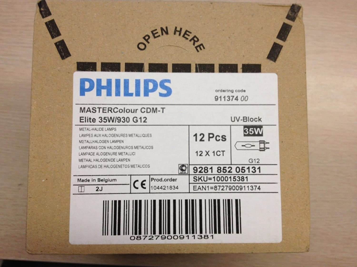 12 Pieces Philips CDM35T6/930-Elite Mastercolour G12-Base 911374 Metal Halide Lamp: Amazon.com: Industrial & Scientific