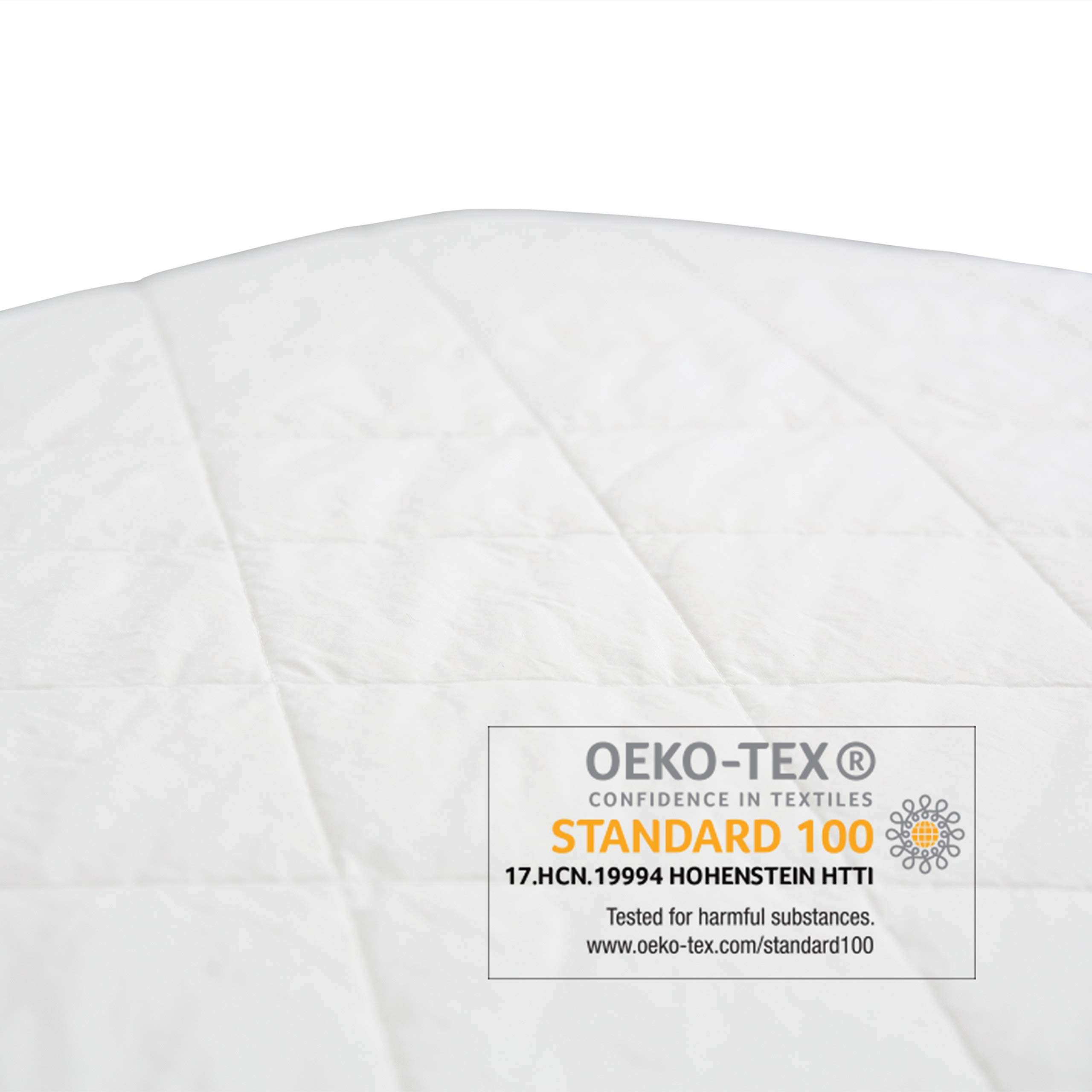 Organic, Waterproof Baby Crib Mattress Protector Pad (Not a Mattress). Polyester and Vinyl Free. Quilted, Breathable. Responsibly-Made with 100% GOTS-Certified Organic Cotton. by Sonsi. by Sonsi (Image #7)
