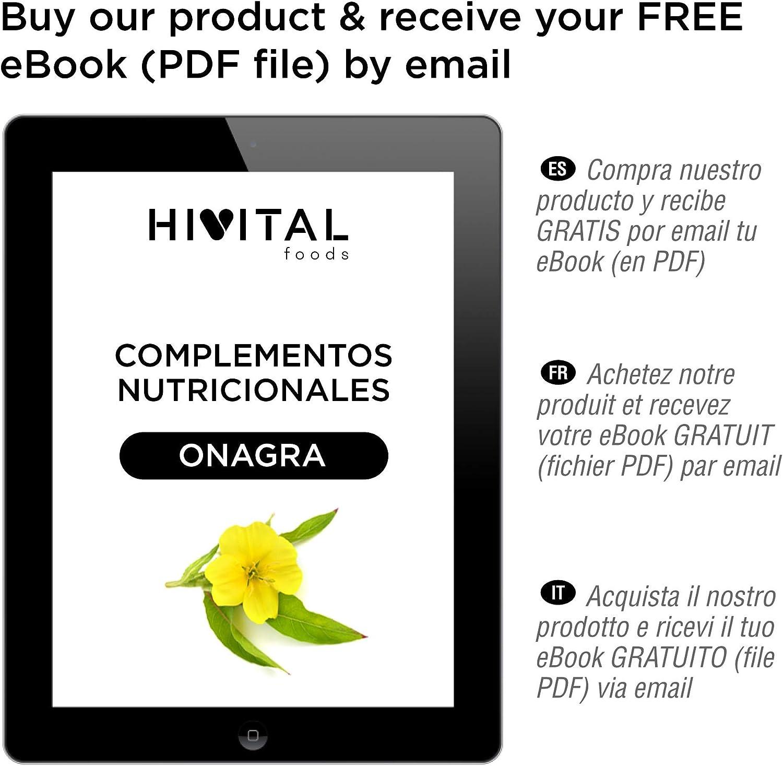 Aceite de Onagra 1000 mg con 10% Omega 6 GLA | 200 perlas de ...