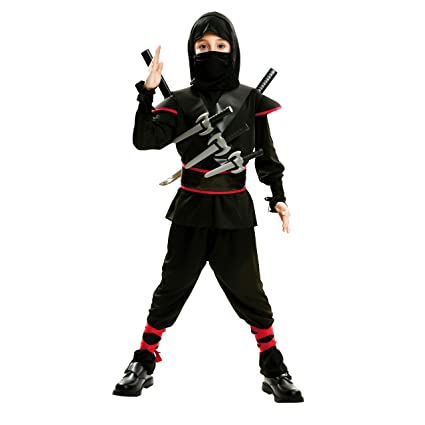 My Other Me Me-202041 peliculas y TV Disfraz de ninja killer para niño, Color negro, 5-6 años (Viving Costumes 202041