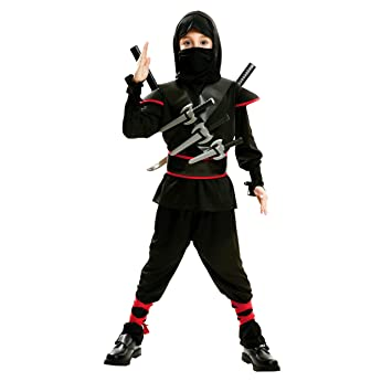 My Other Me Me-202043 peliculas y TV Disfraz de ninja killer para niño, Color negro, 10-12 años (Viving Costumes 202043