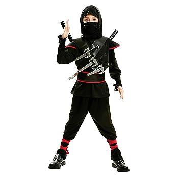5-7 a/ños Disfraz de ninja para ni/ños color negro Rubies 12109-M