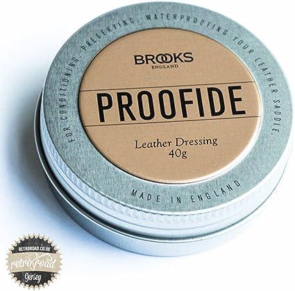 NEW GENUINE 40g Brooks England PROOFIDE Leather Saddle Care seat dressing