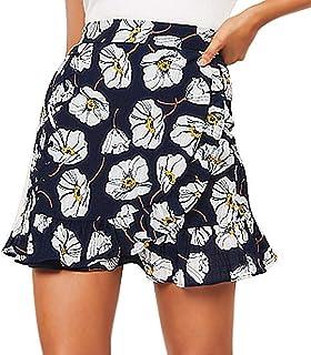 CANDLLY Faldas de Fiesta Mujeres Elegante Trabaja Faldas de Flores Faldas Cortas Faldas Modernas Vestido Guapo para Chicas Regalos para Novia San Valentin